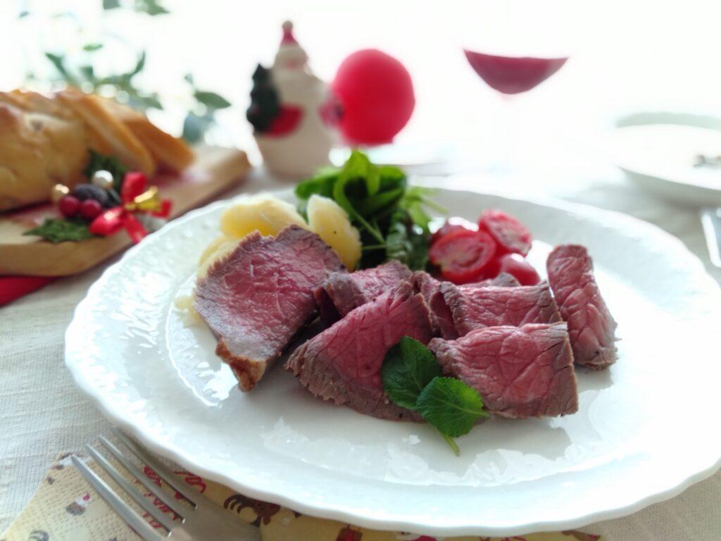 料理教室スタジオソラ ローストビーフ クリスマス料理